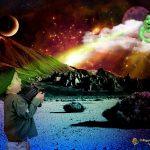 Galactic Meeting - Cette image créative n'a jamais été mise en concours. Je l'ai faite pour faire plaisir à mes petits-enfants qui illustrent cette image.